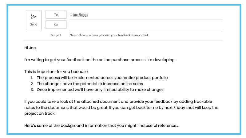 How to write effective emails sample